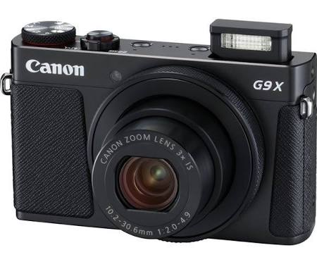 Canon PowerShot G9 X Mark II 20.1 MP Compact Digital Camera - Black