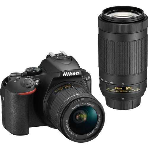Nikon D5600 DSLR Camera with 18-55mm and 70-300mm Lenses